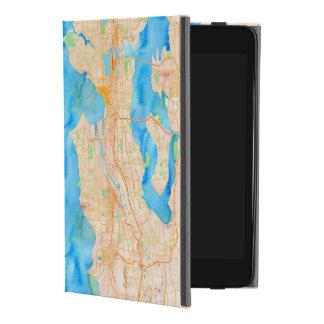 Seattle und Puget Sound-Aquarell-Karte iPad Mini 4 Hülle
