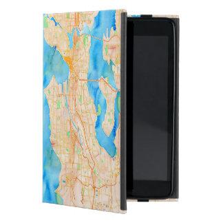 Seattle und Puget Sound-Aquarell-Karte iPad Mini Etui
