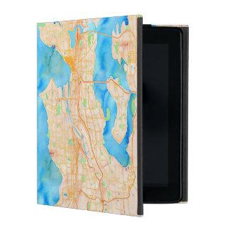 Seattle und Puget Sound-Aquarell-Karte iPad Schutzhülle