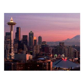 Seattle von Kerry-Park Postkarte