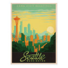 Seattle, WA Postkarte