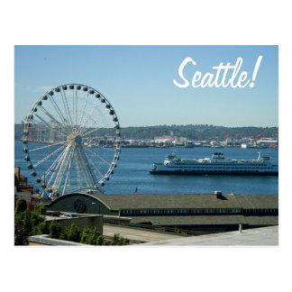 Seattlerad u. -fähre postkarte
