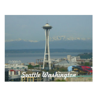 Seattleskyline-Foto-Postkarte Postkarte
