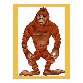 Sebastian sasquach, Bigfootyeti Postkarte