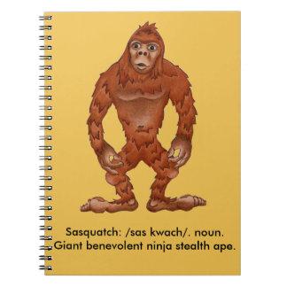 Sebastian sasquach, Bigfootyeti Spiral Notizbuch