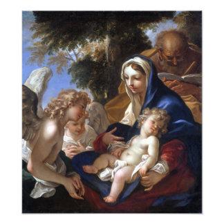 Sebastiano Ricci die heilige Familie mit Engeln Fotodruck