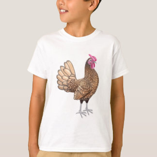 Sebright kleiner Hahn scherzt T - Shirt