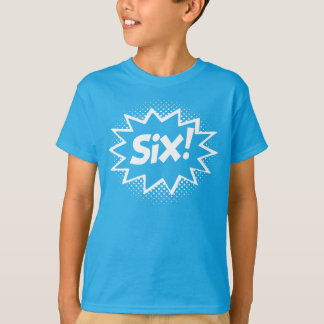SECHS! 6. Geburtstags-Geschenksuperhero-Logo-T - T-Shirt