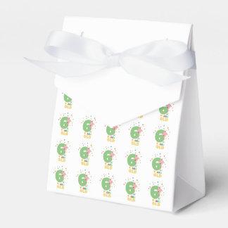 Sechs des alten 6. Geburtstags-Jahre Party-Z7oge Geschenkschachtel