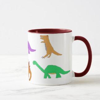 Sechs Dinosaurier-Tasse Tasse