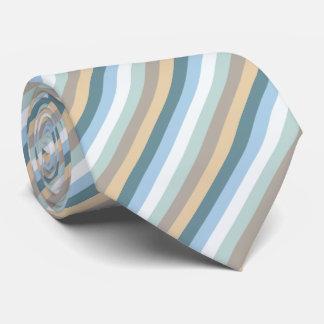 Sechs Farben - blaues Brown-Sand-beige Türkis-Weiß Krawatte