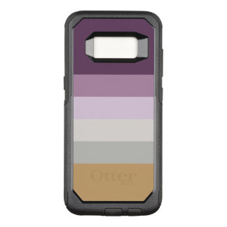 Sechs Farben - blaues violettes lila rosa graues OtterBox Commuter Samsung Galaxy S8 Hülle