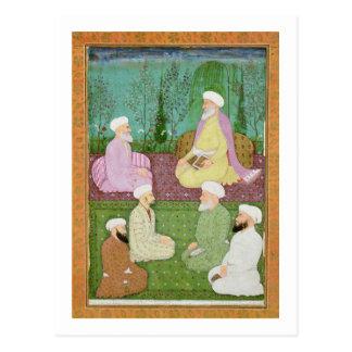 Sechs moslemische heilige Männer gesetzt auf einer Postkarte