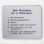 Sechs Phasen eines Projektes Mauspads
