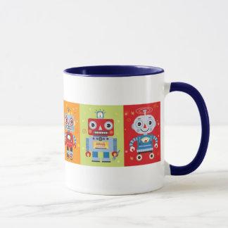 Sechs Spaß-Roboter-Tasse Tasse