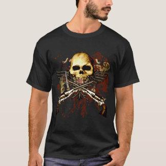 Sechs tireur mit dem Schädel T-Shirt