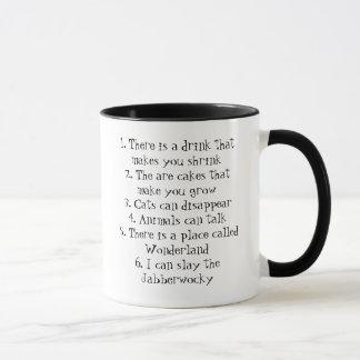 Sechs unmögliche Sache-Tasse Tasse