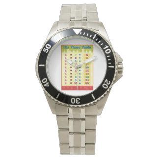 Sechs Zeit-Tabellen-Uhr Uhr