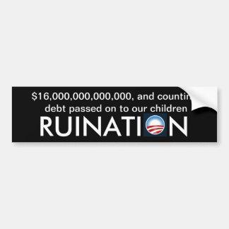 Sechzehn Trillion Dollar Schulden… und Zählung Auto Sticker