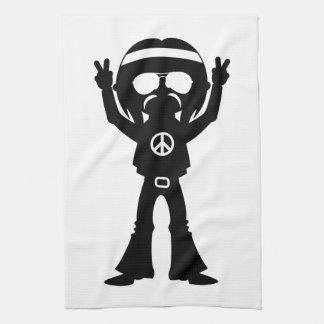 Sechziger-Friedenshippie-Silhouette Handtuch