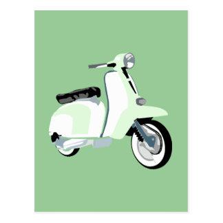 Sechziger-Mod-Roller Postkarte