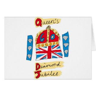 sechzigjähriges Jubliäum 2012 der Königin Karte