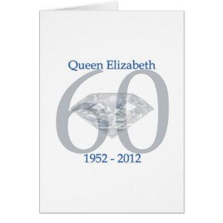 Sechzigjähriges Jubliäum der Königin-Elizabeth Karte