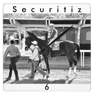 Securitiz Quadratische Wanduhr