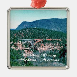 Sedona Arizona Quadratisches Silberfarbenes Ornament