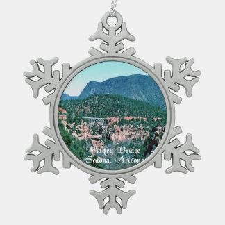 Sedona Arizona Schneeflocken Zinn-Ornament