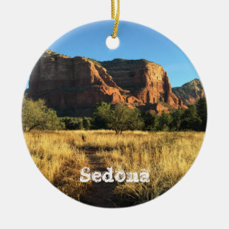 Sedona Arizona Weihnachtsverzierung Rundes Keramik Ornament