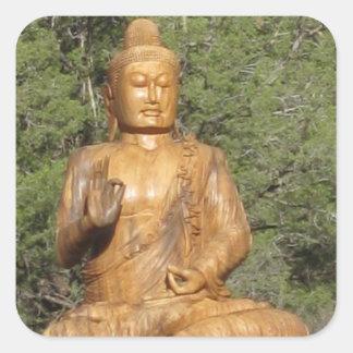sedona Buddha-Aufkleber Quadratischer Aufkleber