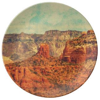 Sedona in der Schmutz-Porzellan-Platte Porzellanteller