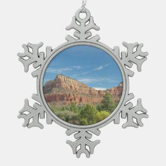 Sedona Rotfelsen Schneeflocken Zinn-Ornament