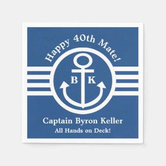 See40. Geburtstags-Party für Kapitän oder Serviette