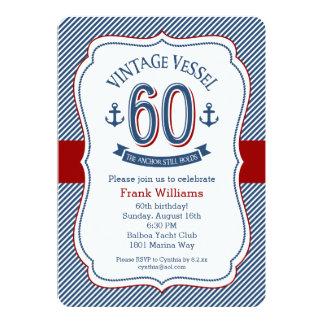 See60. Geburtstag 12,7 X 17,8 Cm Einladungskarte