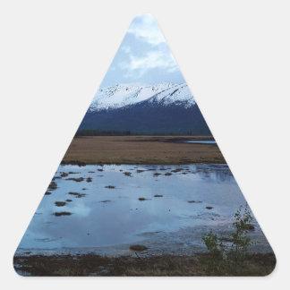 See auf Maud Straße Dreieckiger Aufkleber