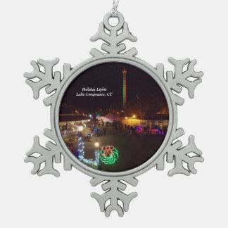 See Compounce Schneeflocke-Verzierung 1 Schneeflocken Zinn-Ornament