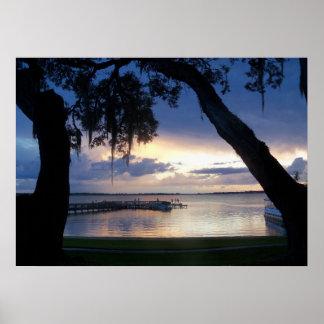 See Dora Florida Sonnenuntergang an der Poster