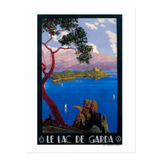 See Garda Reise-förderndes Plakat Postkarte