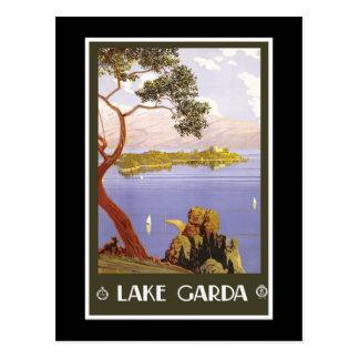 """""""See Garda"""" Vintages italienisches Reise-Plakat Postkarte"""