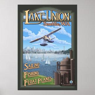 See-Gewerkschafts-Floss-Flugzeug - Seattle, WA Poster