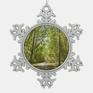 See Kittamaquandi Spur in Kolumbien Maryland Schneeflocken Zinn-Ornament