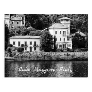 See Maggiore Landhaus-Postkarte Postkarte