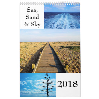 See-, Sand-und des Himmel-2018 Wandkalender