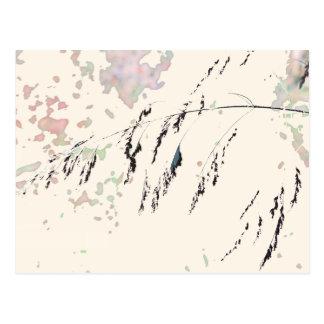 See-Schilfe - Sahne und gedämpfte Pastelle Postkarte