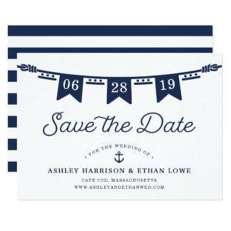 See| Seeflaggen Save the Date 12,7 X 17,8 Cm Einladungskarte