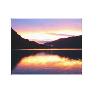 See-Sonnenuntergang-Leinwand Leinwanddruck