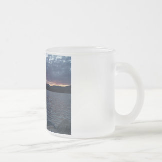 See-Sonnenuntergang Matte Glastasse
