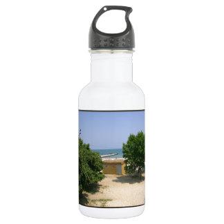 See stützt Flucht unter! Edelstahlflasche